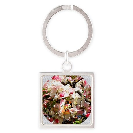 What spring does to cherry trees Square Keychain