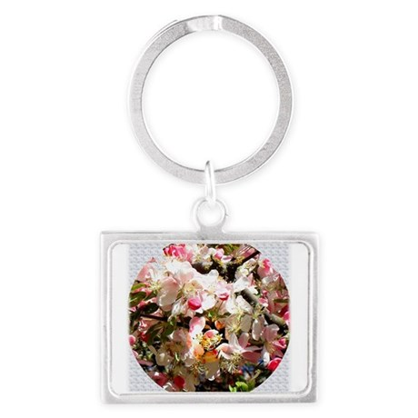 What spring does to cherry tree Landscape Keychain
