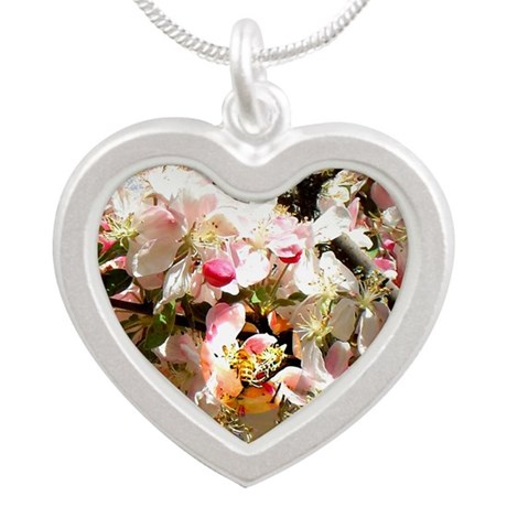What spring does to cherry t Silver Heart Necklace
