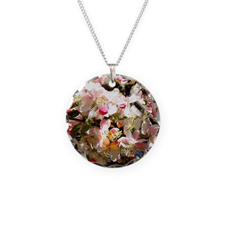 What spring does to cherry t Necklace Circle Charm