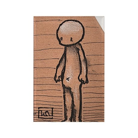 Standing guy Rectangle Magnet