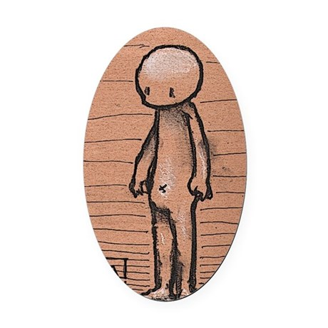 Standing guy Oval Car Magnet