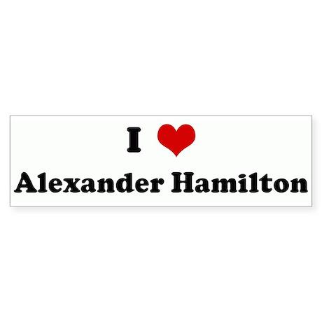 I Love Alexander Hamilton Bumper Sticker (10 pk)