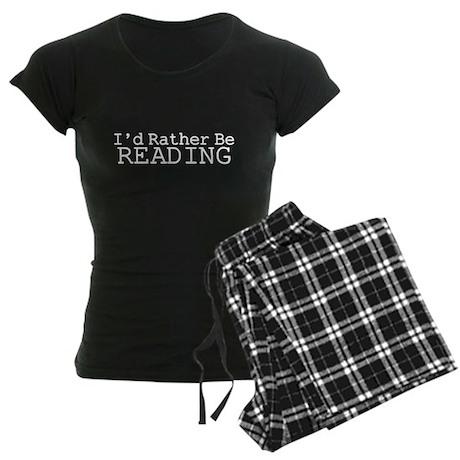 Rather Be Reading Women's Dark Pajamas