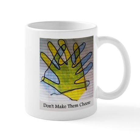The middle hand Mug