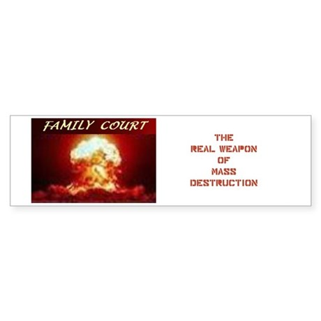 family Court Sticker (Bumper)