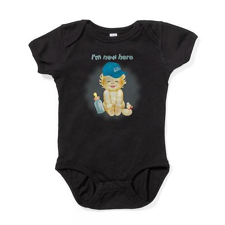 Im New Here~Boy Baby Bodysuit