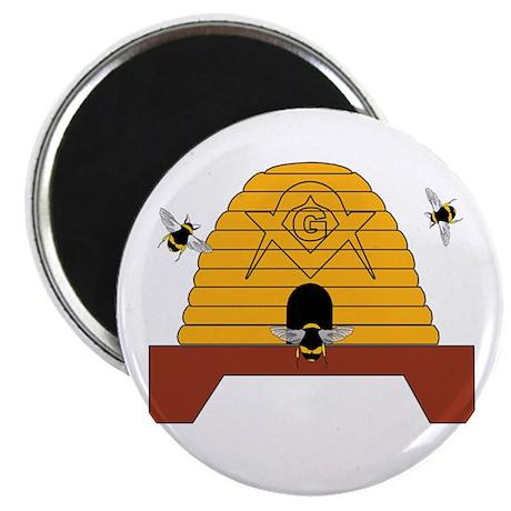 Masonic Bee Hive Magnet