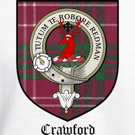 Crawford Clan Crest Tartan Hoodie By Coatofarmscrest