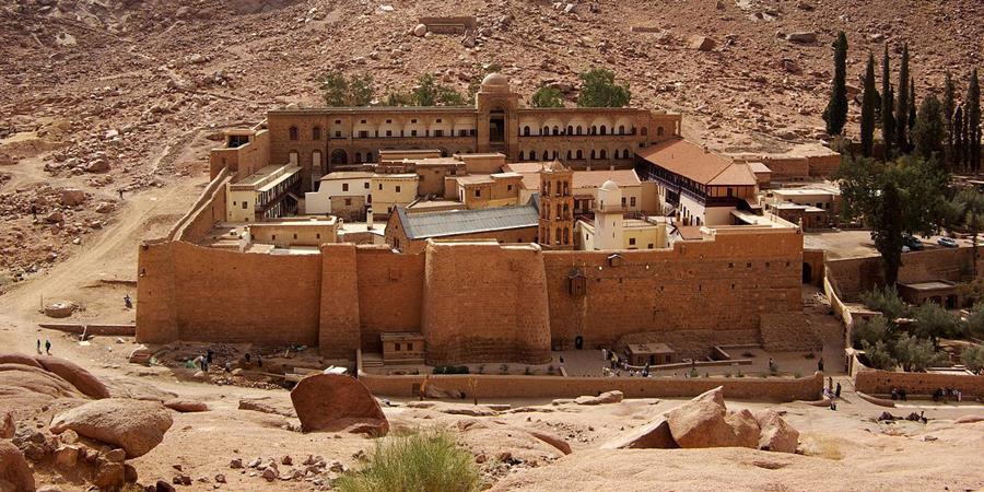 Crédito de la imagen: Monasterio de Santa Catalina (detalle), construido entre 548-565 cerca de la ciudad de Santa Catalina, la península del Sinaí, Egipto.