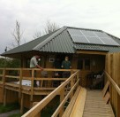 Off-grid solar pv panels at Stafford Marsh Field Studies Centre