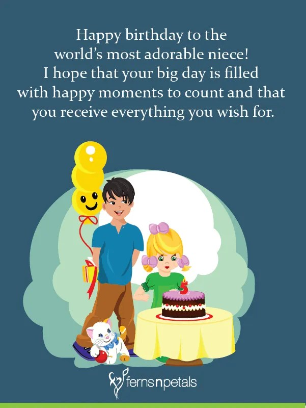 Best 40 Happy Birthday Quotes Wishes For Niece 2021 Ferns N Petals