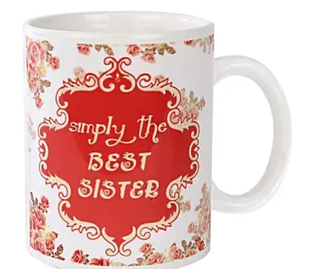 Best Sister Coffee Mug White And Red Color Coffee Mug Simply The Best Sister