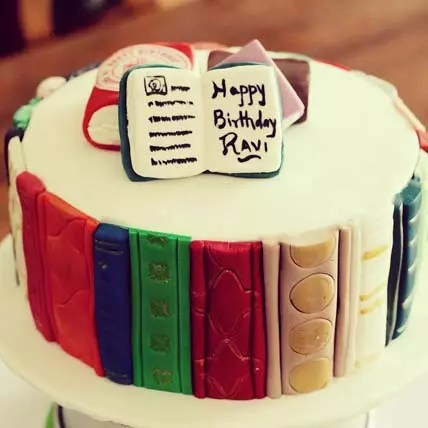 Online Book Lovers Chocolate Cake 6 Inches Gift Delivery In Singapore Ferns N Petals