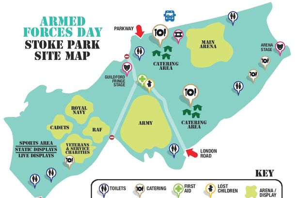 Armed Forces Day Stoke Park map