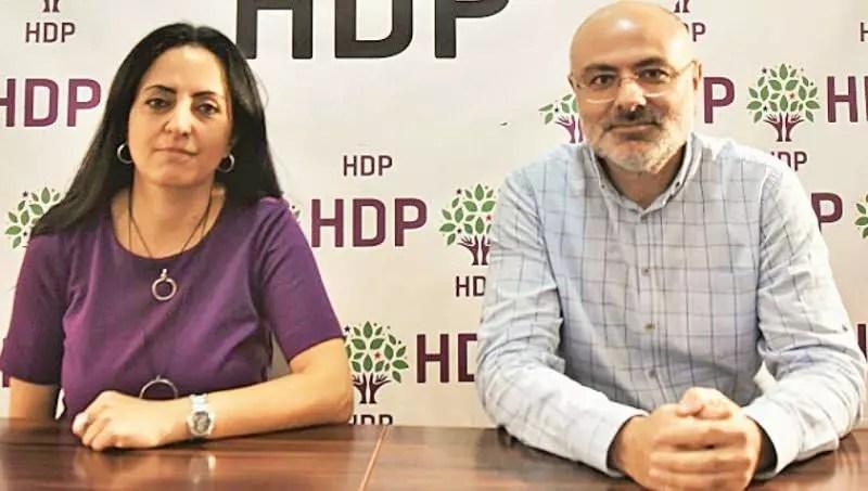 HDP eşbaşkanları Elif Bulut ve Erdal Avcı