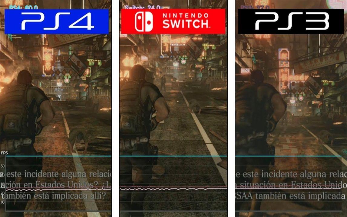 《生化危機6》 PS4 vs Switch vs PS3 游戲幀率測試對比 1080P 60幀視頻_嗶哩嗶哩 (゜-゜)つロ 干杯~-bilibili