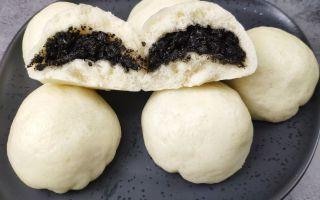 黑芝麻除了汤圆还能怎么做好吃?蒸包子更美味,黑芝麻流沙包做法