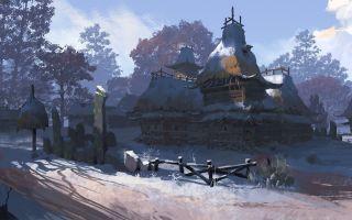 冷血王子-场景原画教程-《村庄》气氛图过程