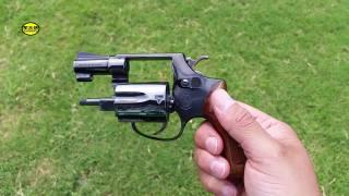 闪闪发亮的史密斯韦森小型左轮手枪,老外都舍不得用