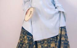 【南栀】第八批兰若庭太平有象蓝白开箱↪提前四个月的汉服中的校服翻车了吗?