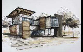 手绘建筑系列
