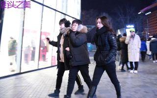 三里屯街拍,元旦假期的北京太古里,好看妹子真的不少