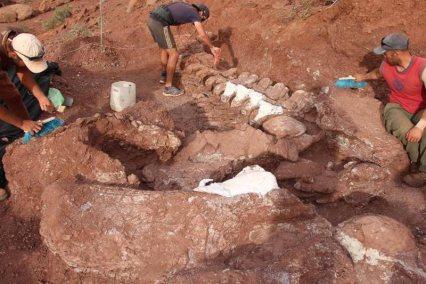 Dinosaures علماء يكتشفون بقايا متحجرة لديناصور ضخم المزيد