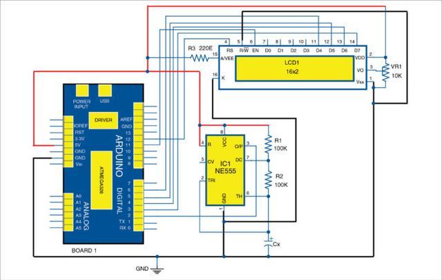 基於Arduino和NE555的電容測量電路 - 每日頭條