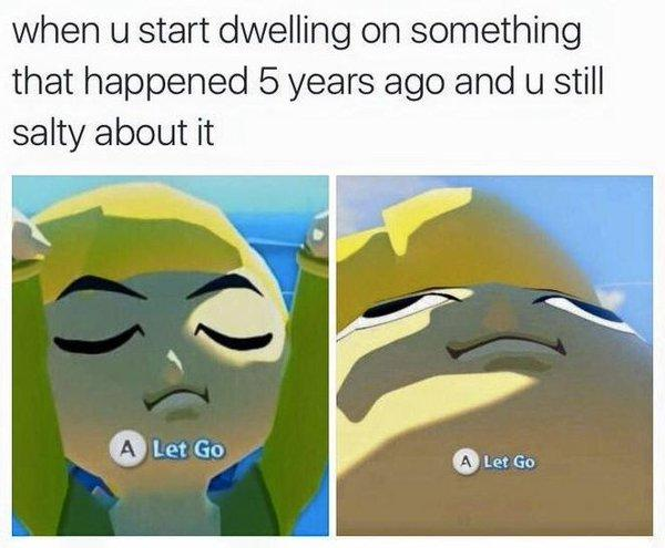Image result for let go zelda meme