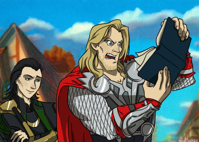 Thor Reads Lokis Plans For World Domination Gaston