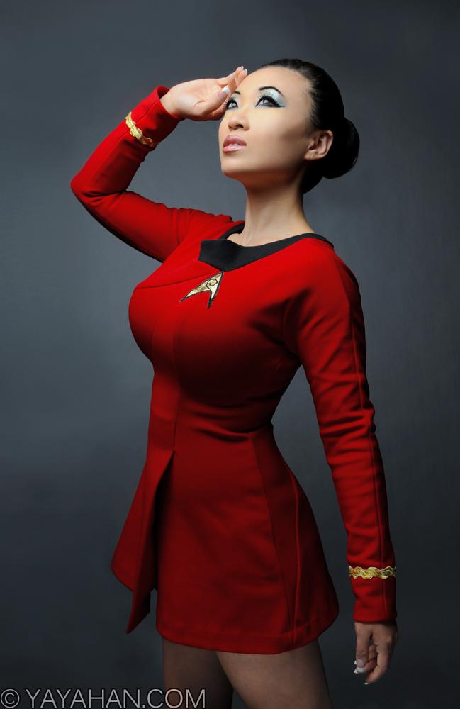 Official Uhuras Red Dress Uniform By Yaya Han Cosplay