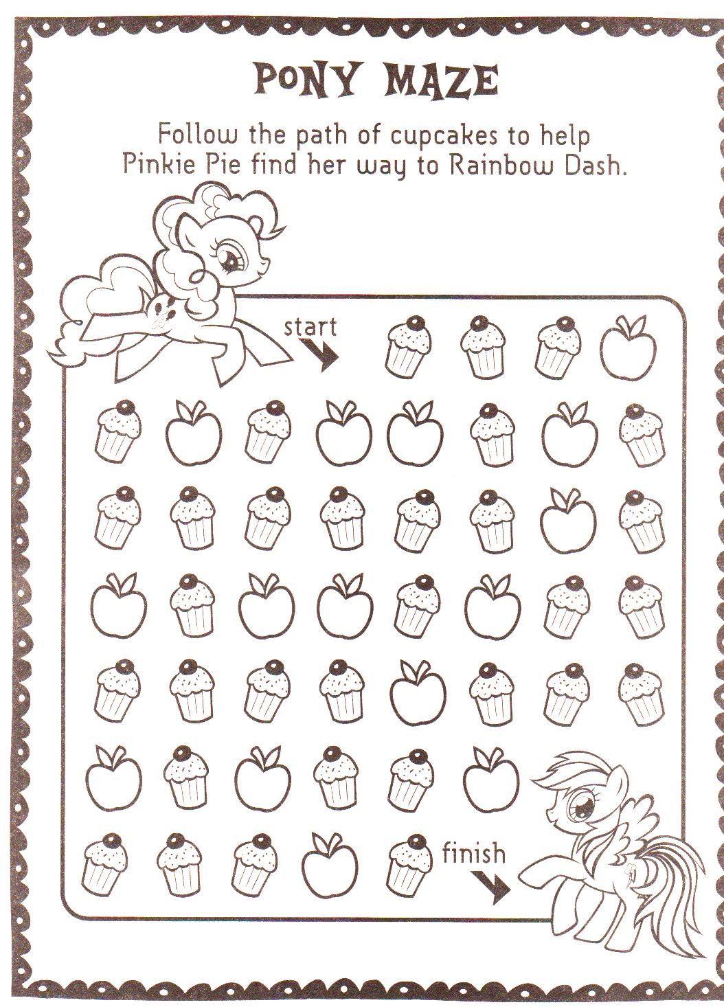 Pinkie Pie And Rainbow Dash Cupcake Maze