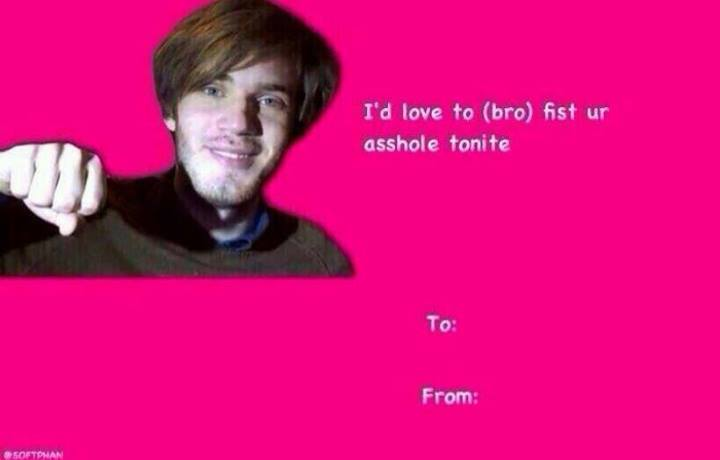 PewDiePie Brofist Valentines Day E Cards Know Your Meme