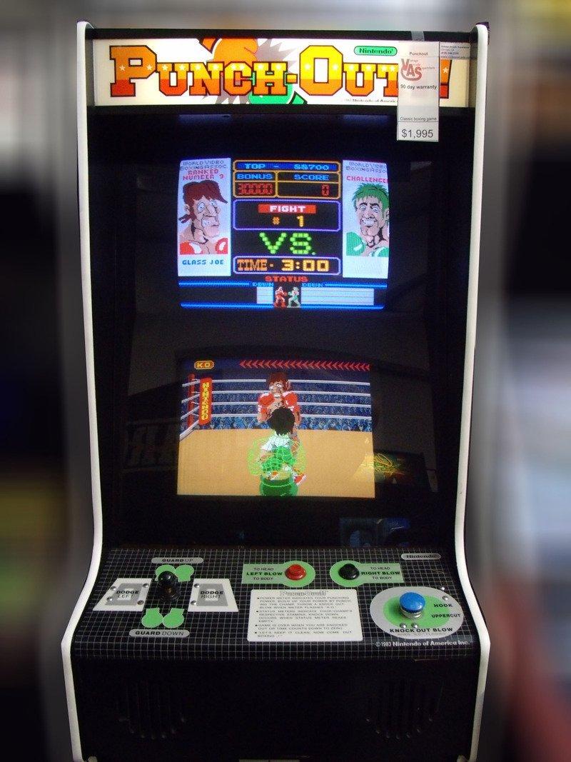 Image result for nintendo arcade cabinet mario bros punchout