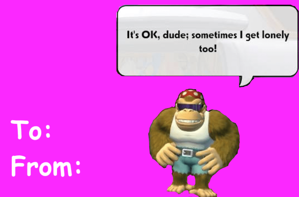 Funky Kong Valentines Day E Cards Know Your Meme