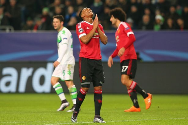 Wolfsburg three Manchester United 2: The sport at a look as Louis Van Gaal's aspect crash out of the Champions League Martial 2