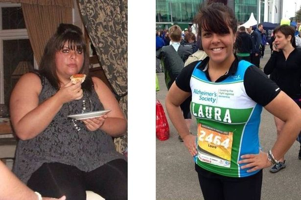 Laura Bolton, 26, from Warrington, has lost nine stone with the help of Julie Neville