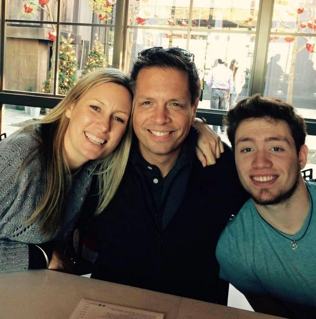 Damond with her fiance Don Damond and stepson Zach (Image: Facebook)