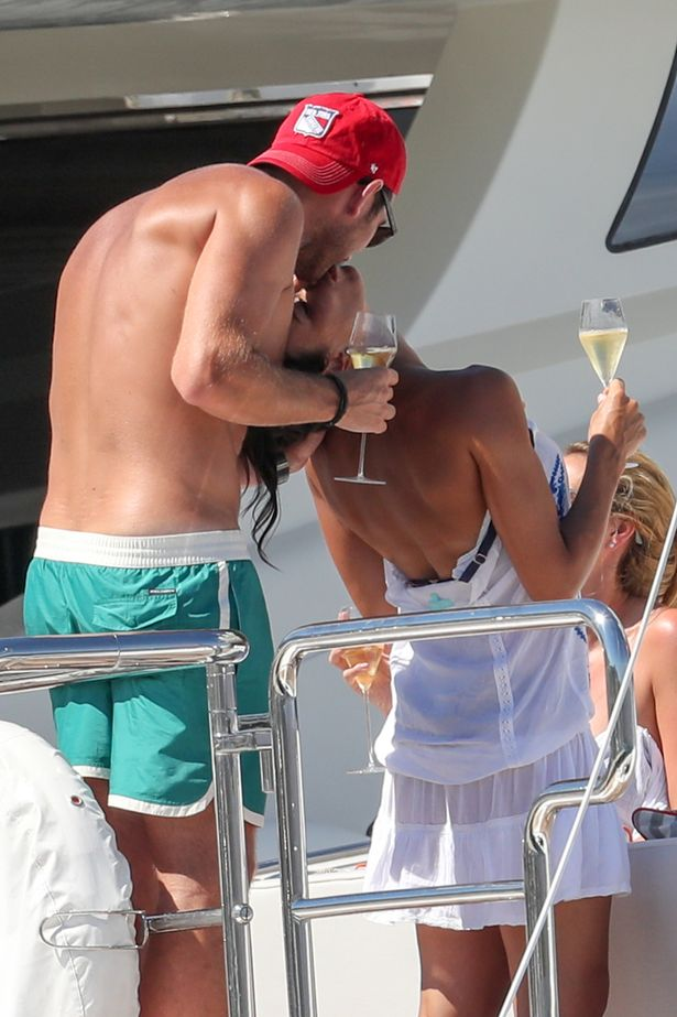 Christine and Frank Lampard in a luxury yacht