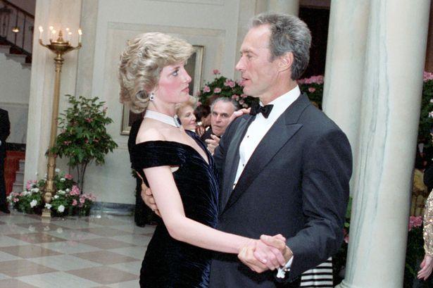 Princess Diana dances with Clint Eastwood