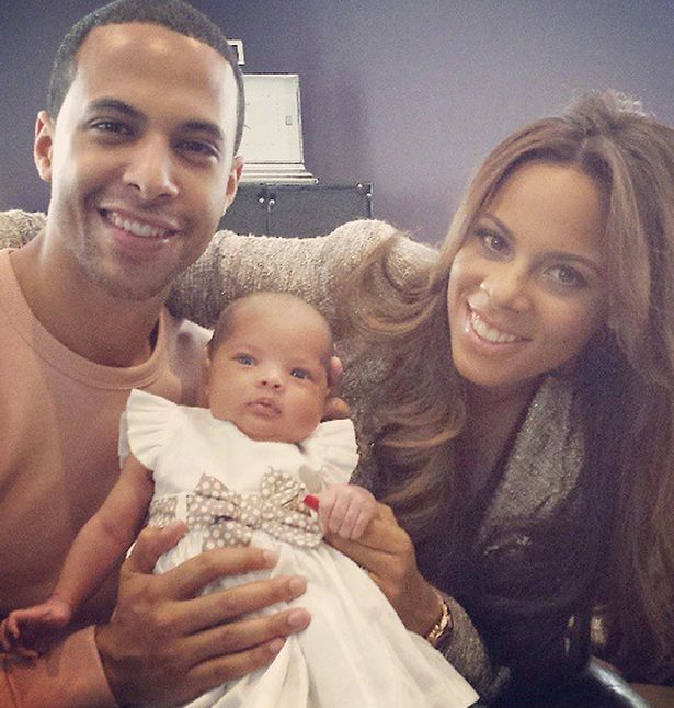 Marvin Humes and Rochelle Humes with their baby daughter