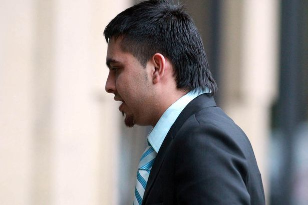 Wakar Akhtar leaving Bradford Crown Court