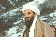 A smiling Osama Bin Laden