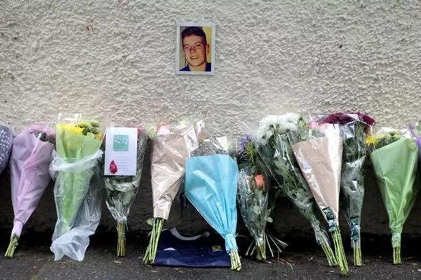 Jordan MacKay floral tribute