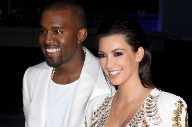 Kanye West and Kim Kardashian at the 65th Cannes Film Festival