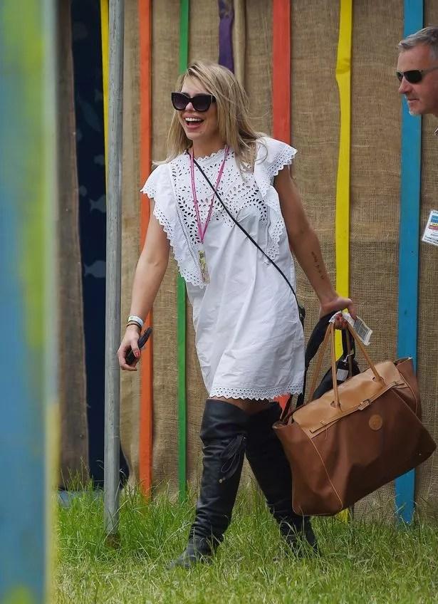 Billie Piper seen at Glastonbury
