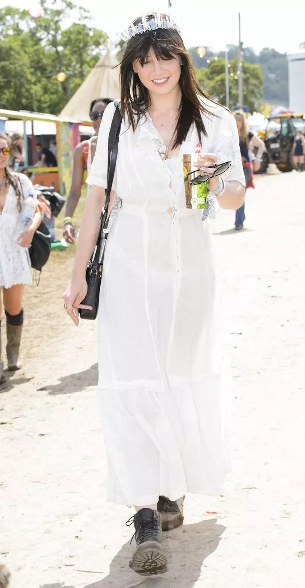 Daisy Lowe at Glastonbury