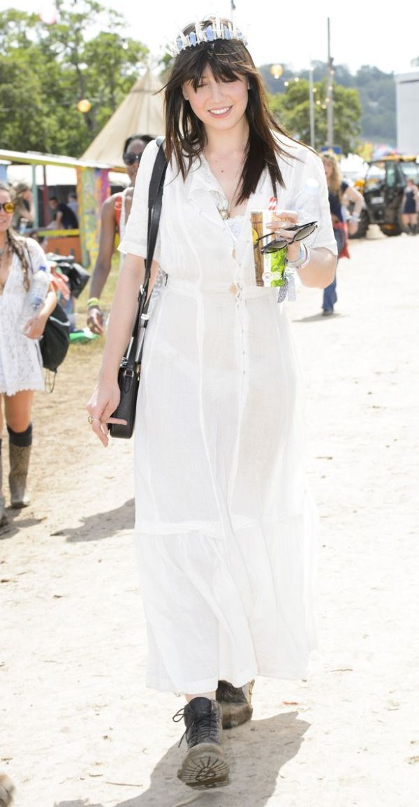 Daisy Lowe at Glastonbury