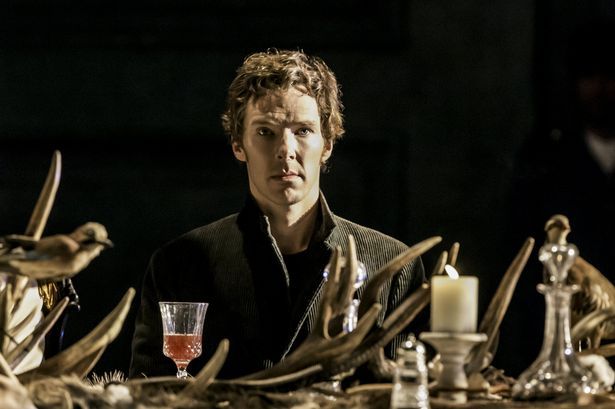 Benedict Cumberbatch as Hamlet in the production of Hamlet at the Barbican centre